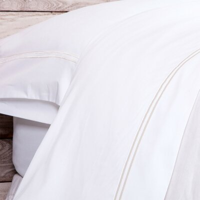 Cotton Pillow Case Size: King, Color: Taupe