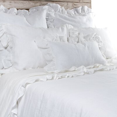 Charlie Duvet Size: Queen, Color: White