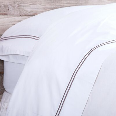320 Thread Count Cotton Sheet Set Color: Gray Stone, Size: Queen
