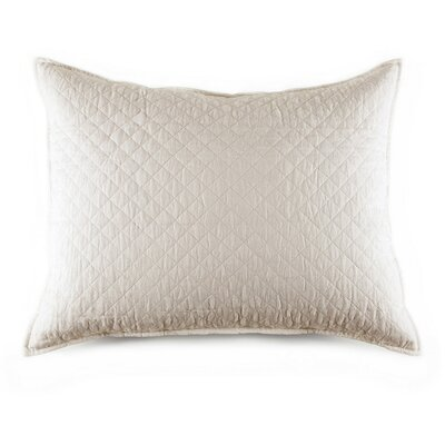 Hampton Cotton Lumbar Pillow Color: Cream