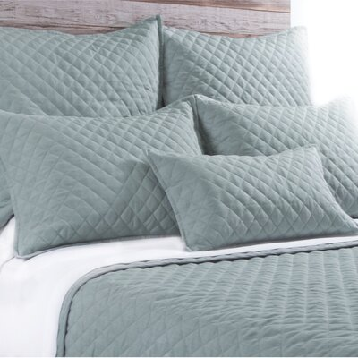 Hampton Sham Size: King, Color: Seafoam