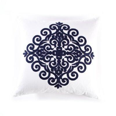 Catalina Cotton Throw Pillow Color: Navy