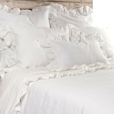 Charlie Duvet Size: Queen, Color: Cream