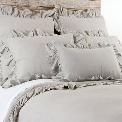 Charlie Linen Lumbar Pillow Color: Flax