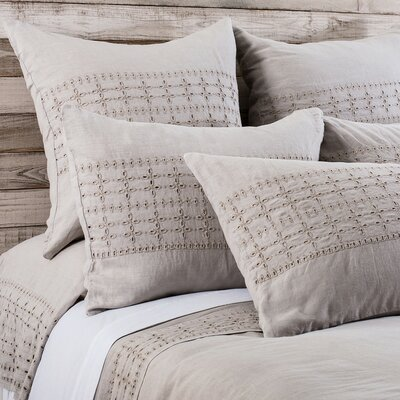 Layla Duvet Size: King, Color: Taupe