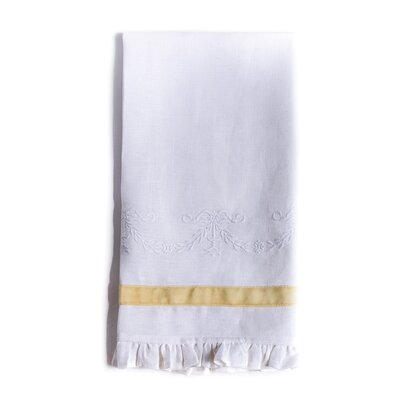 Belle Hand Towel Color: White