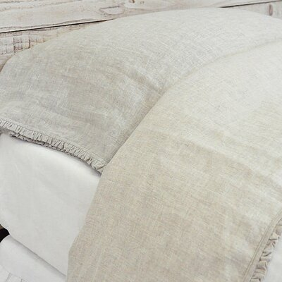 Charlie Linen Flat Sheet Size: King, Color: Flax