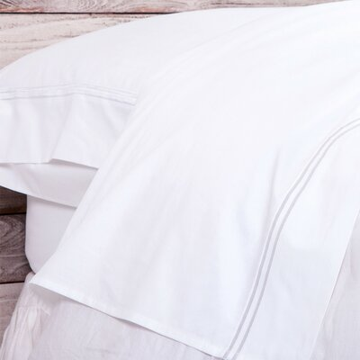 Cotton Pillowcase Color: White, Size: King