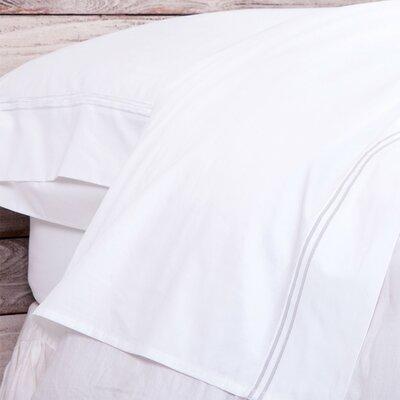 Cotton Pillow Case Size: King, Color: White