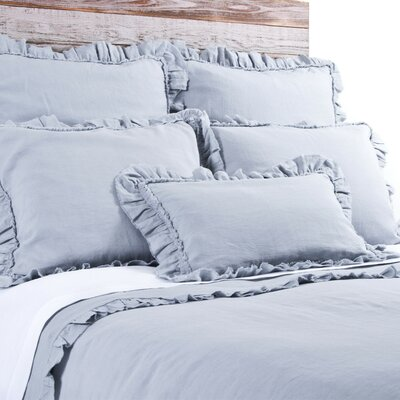 Mathilde Duvet Size: Queen, Color: Ocean