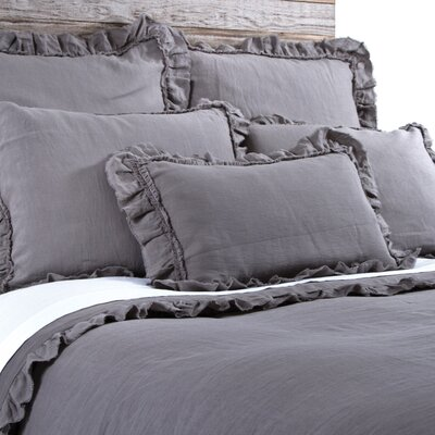 Mathilde Duvet Size: King, Color: Gray Stone