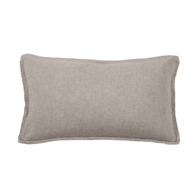 Louwie Linen Lumbar Pillow Color: Flax