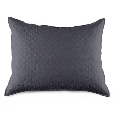 Hampton Cotton Lumbar Pillow Color: Midnight