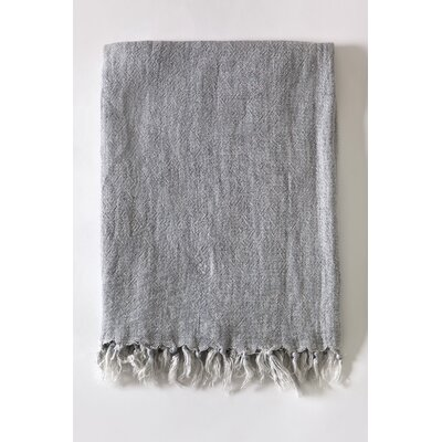 Montauk Linen Throw Color: Ocean