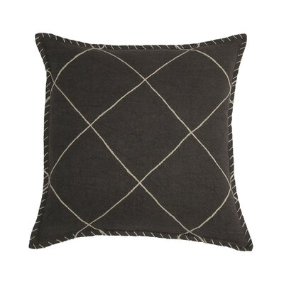 Hudson Linen Pillow Cover Color: Chocolate