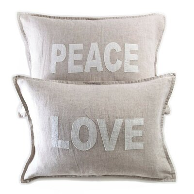 2 Piece Love Peace Pillow Cover Set