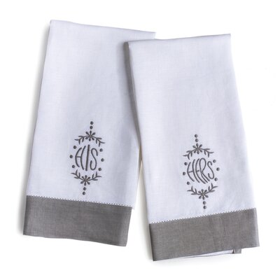 2 Piece His Hers Hand Towel Set