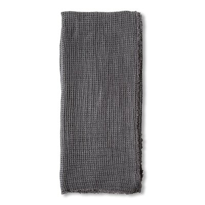 Venice Linen Throw Color: Midnight