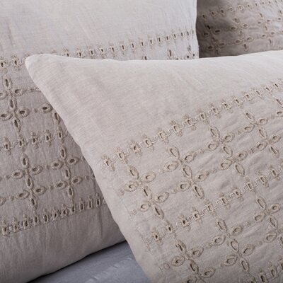Layla Sham Color: Taupe, Size: Euro