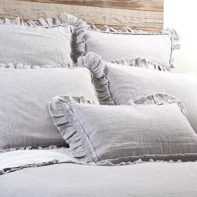 Mathilde Duvet Size: Queen, Color: Silver