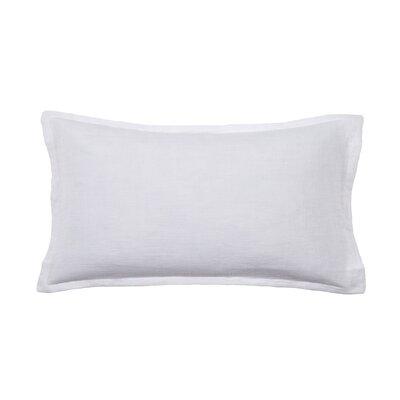 Louwie Linen Lumbar Pillow Color: White