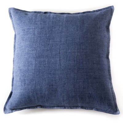 Montauk Linen Euro Pillow Color: Indigo