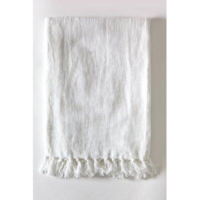 Montauk Linen Throw Color: Pure White