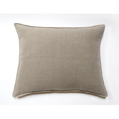 Montauk Linen Throw Pillow Color: Natural