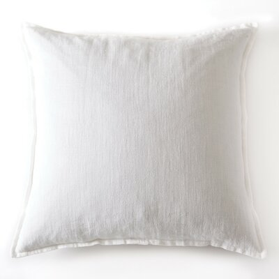 Montauk Linen Throw Pillow Color: White