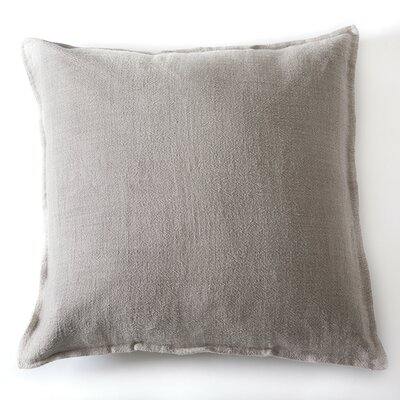 Montauk Linen Euro Pillow Color: Natural