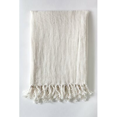 Montauk Linen Throw Color: Cream