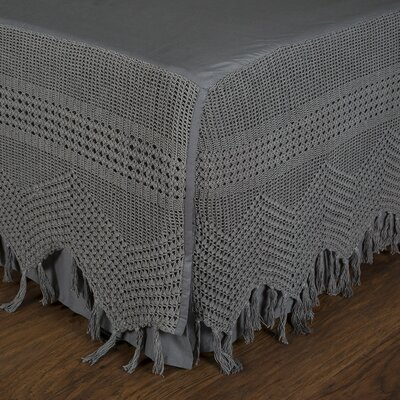 Vintage Crochet Bed Skirt Size: King, Color: Midnight