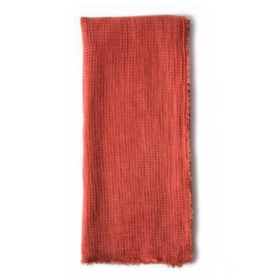 Venice Linen Throw Color: Cayenne