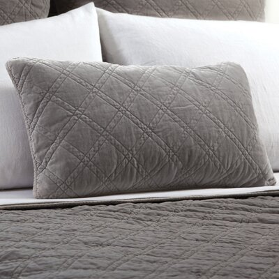 Brussels Cotton Lumbar Pillow Color: Pewter