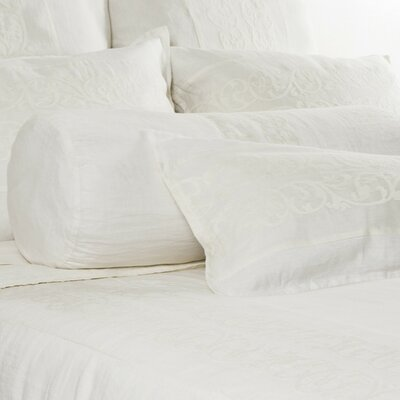 Allegra Linen Bolster Pillow Color: Cream