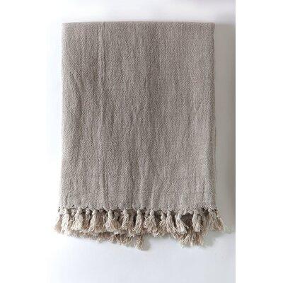 Montauk Linen Blanket Size: 90 L x 110 W, Color: Natural