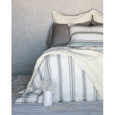 Jackson Duvet Color: Cream / Graystone, Size: Queen