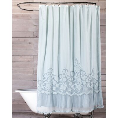 Caprice Cotton Shower Curtain Color: Aqua