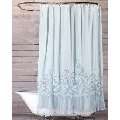 Caprice Cotton Shower Curtain Color: Cloud