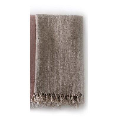Montauk Linen Throw Color: Natural