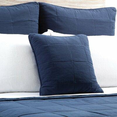 Antwerp Cotton Throw Pillow Color: Navy