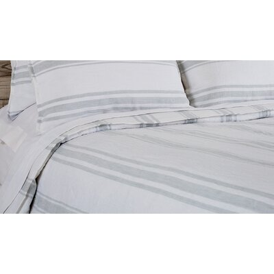 Jackson Duvet Size: King, Color: White / Ocean
