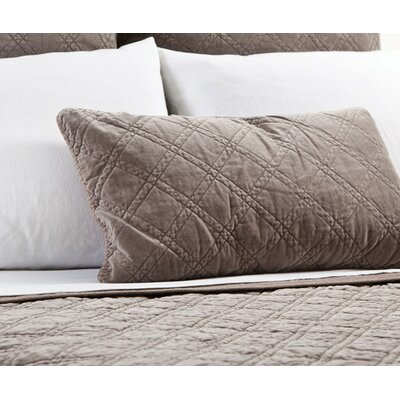 Brussels Cotton Lumbar Pillow Color: Walnut