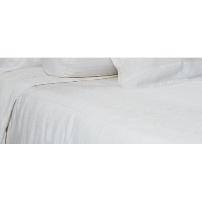 Allegra Duvet Size: King, Color: White