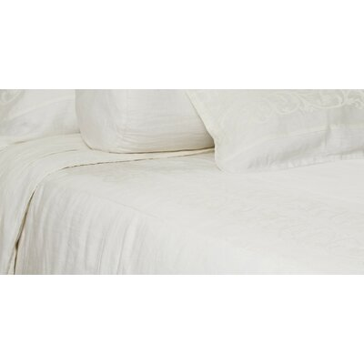 Allegra Duvet Size: King, Color: Cream