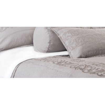 Allegra Duvet Size: King, Color: Flax