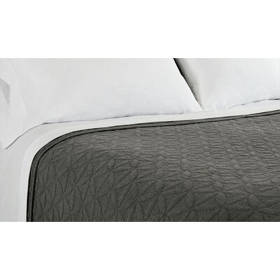 Oslo Coverlet Size: King, Color: Gray