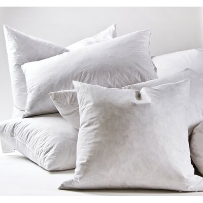 Cotton Pillow Insert Size: 20 H x 36 W