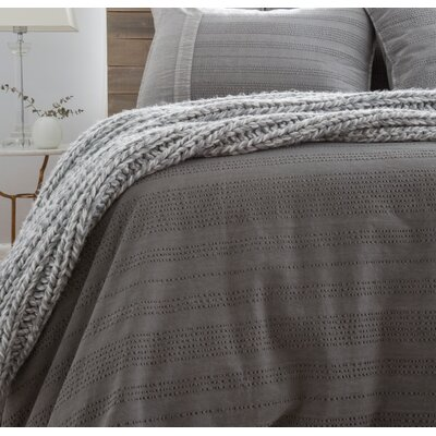 Quinn Duvet Color: Gray, Size: Queen
