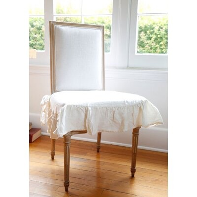 Parson Box cushion Dining Chair Slipcover Color: White